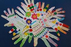tableau réalisé avec les mains